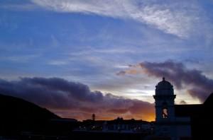 Coucher de soleil aux Açores