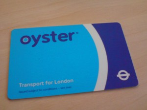 carte Oyster Londres