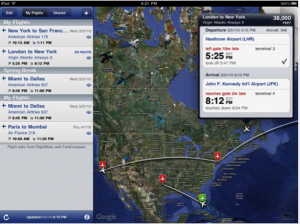 itinéraires sur iPad