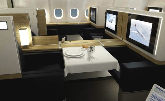 First class Swiss Air