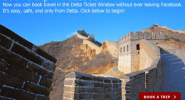 Delta Airlines lance la réservation sur Facebook