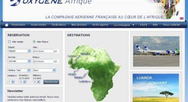 Oxygène Airways dévoile une partie de son site