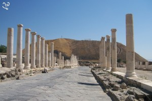 Vue de la rue principale de Scythopolis