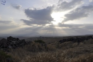Soirée face au mont Tavor