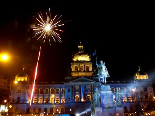 Prague, République Tchèque, au Nouvel An