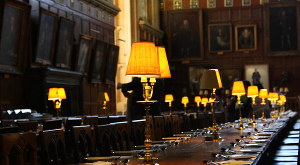 Christ Church College salle a manger Harry Potter