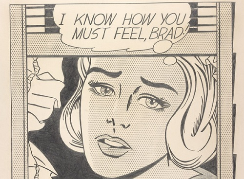 Lichtenstein, I know how you must feel, Brad! (détail), 1963