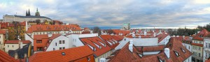 Photo panoramique de Prague