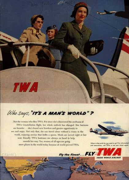 It's a man's world TWA