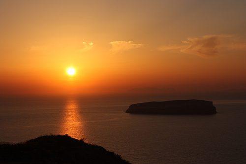 Coucher de soleil grec