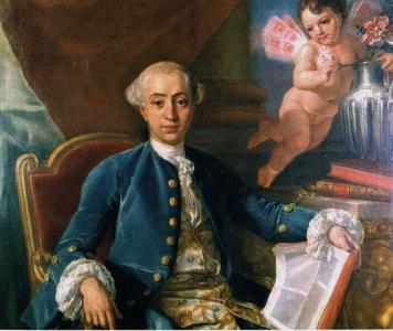 Portrait de Giacomo Casanova par Anton Raphael Mengs