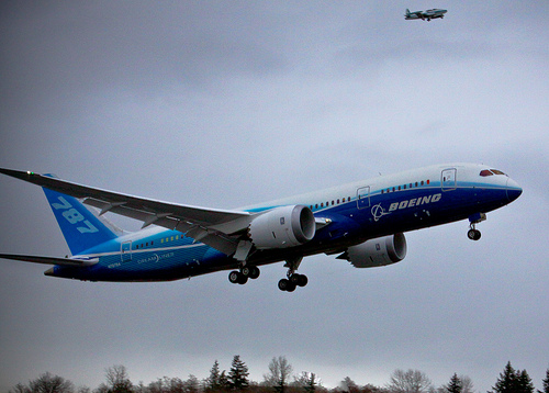 boeing dreamliner en vol