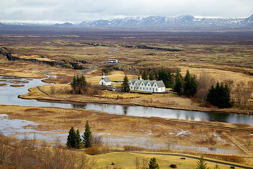 un paysage islandais