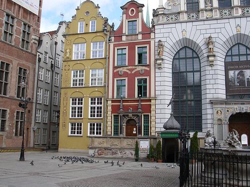 De jolies maisons polonaises à Gdansk