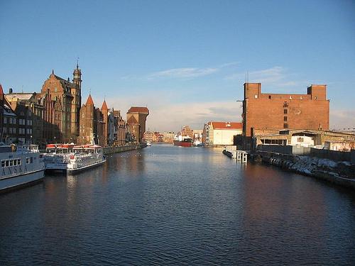 Dans le port de Gdansk...