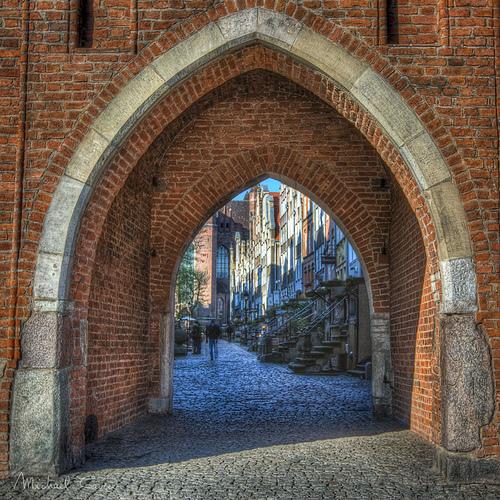 La porte de la vieille ville de Gdansk