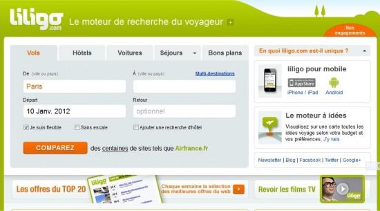 Page d'accueil de liligo.com