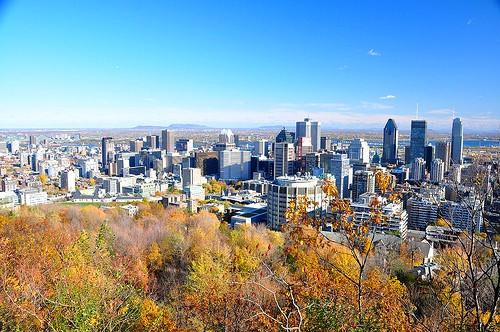Montréal vue du Parc du Mont-Royal