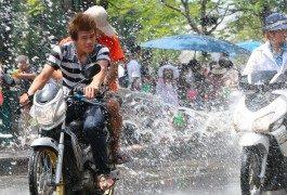 Songkran et la fête de l'eau en Thaïlande