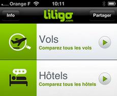 Nouveau : l'application liligo pour iPhone avec comparateur d'hôtels !