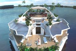 Passer ses vacances sur une île flottante
