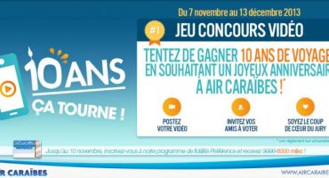 Gagnez dix ans de voyages avec Air Caraïbes