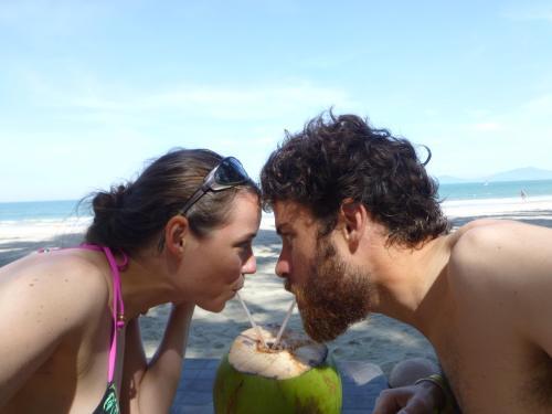 Seb et Madeleine plage