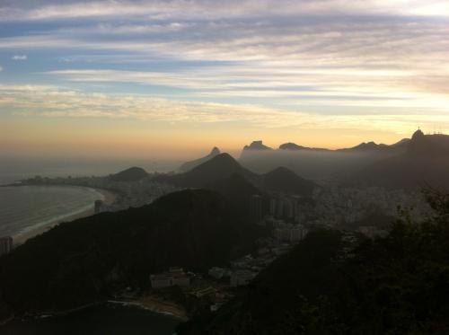 La vue depuis le Pain de Sucre à Rio