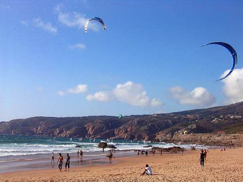 A Praia do Guincho.