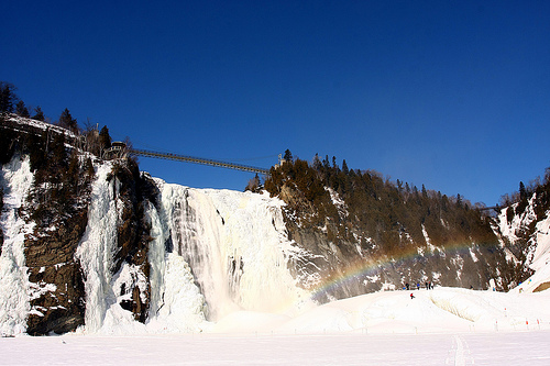 chute montmorency - neige