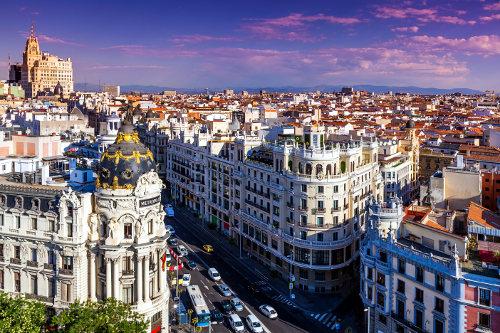 Vue de Madrid depuis le toit des Beaux-Arts.