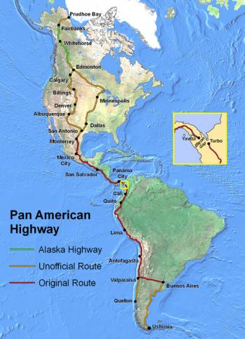 route panaméricaine plus grande route du monde