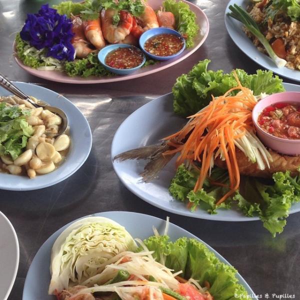 Un repas en Thaïlande
