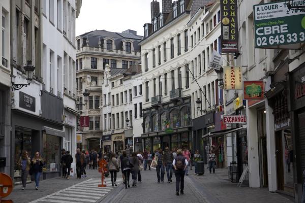 Une rue du centre de Bruxelles