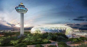 Une serre équatoriale à l'aéroport de Singapour