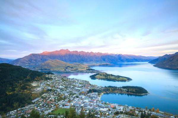 La ville de Queenstown en Nouvelle-Zélande