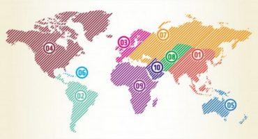Infographie – vos régions du monde préférées