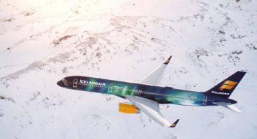 Icelandair présente son nouvel avion Aurora Borealis