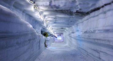 Retournez à l'âge de glace, en Islande