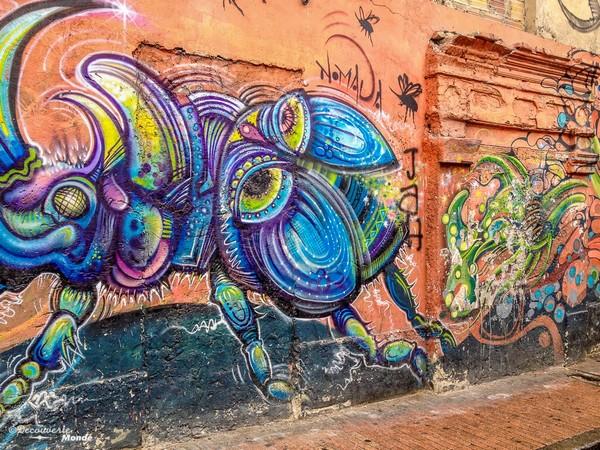 Street art dans les rues de Bogota.