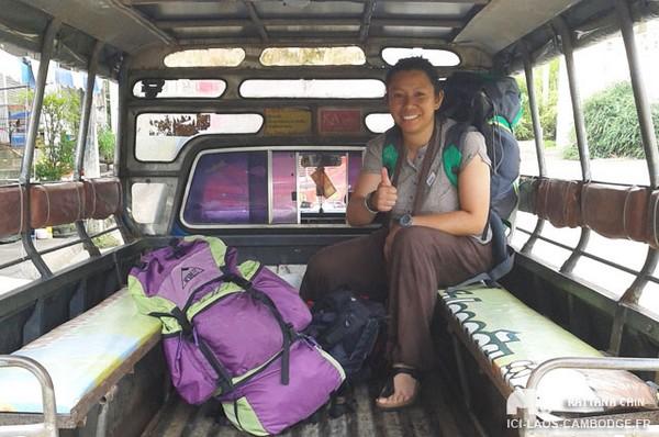 Sur la route, de Trat (Thaïlande) à Sihanoukville (Cambodge).
