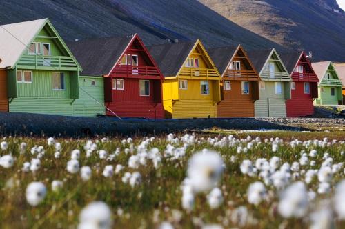 Longyearbyen en Norvège