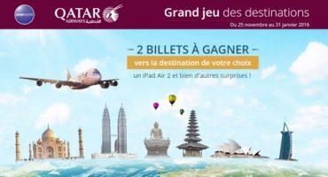 Jeu-concours Qatar Airways : gagnez deux billets vers la destination de votre choix