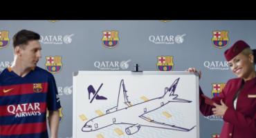 La nouvelle vidéo de Qatar Airways, avec les joueurs du FC Barcelone