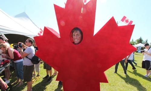 déguisement de feuille d'érable Canada