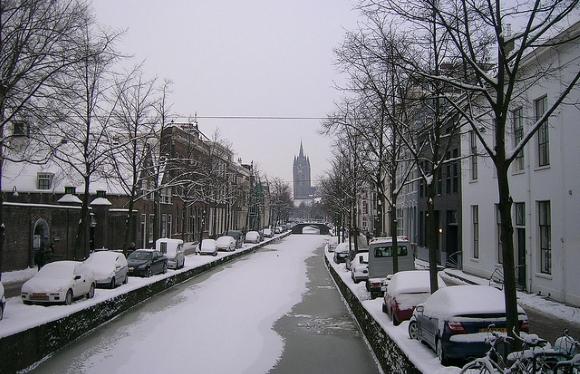 ville de Delft aux Pays-Bas