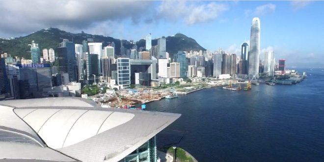 Hong Kong filmé par un drone