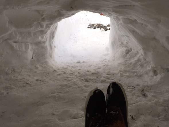 L'intérieur de l'igloo
