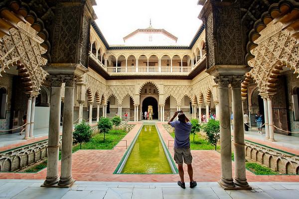 Le jardin des Martell, toujours au palais Alcazar