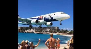Baissez la tête, l'avion atterrit !